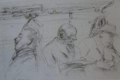 """""""O trem"""", desenho de Rosa Luxemburgo."""