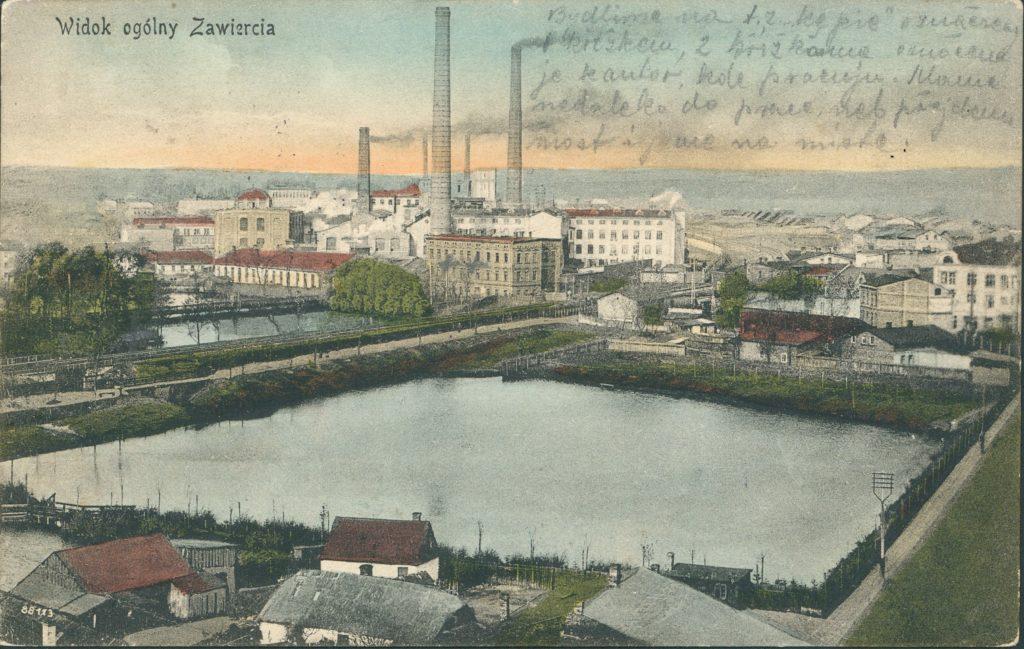 Cartão postal de Zawiercie